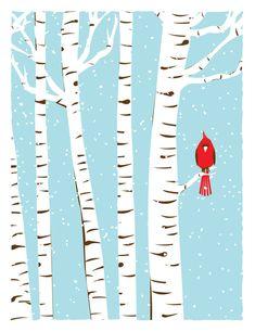 4 Seasons Cardinal Bird Art Prints  Birch Trees Print Set  | Etsy#art #birch #bird #cardinal #etsy #print #prints #seasons #set #trees Snowy Trees, Winter Trees, Birch Trees, Pittsburgh, Tree Wallpaper Iphone, Iphone Wallpapers, Snow Art, Tree Illustration, Art Illustrations