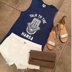 Talk To The >> #Hamsa <<  #Top {$43.00}  #Shorts {$68.00}  #Sandals {$130.00}  #Clutch {$55.00} >> Our #AlexAndAni #CharityClearanceSale is still going strong! {30%} OFF << Select bangles!  Please call 954.530.3109 to order!  #Hamsa #Love #Shopping #Style #YosiSamra #AlexAndAni #CharmedArms #Yoga #FortLauderdale #BocaRaton #Miami #Summer