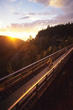 Find the perfect British Columbia (BC) vacation travel idea for you: From a road trip along the Alaska Highway to exploring BC's coast. Alaska Highway, Bike Trails, Biking, Road Trippin, Horseback Riding, Rafting, Vacation Trips, British Columbia, Outdoor Activities
