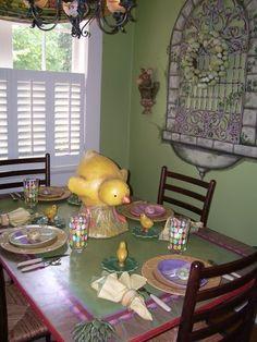 Large Chick Serving as Easter Centerpiece www.markballard.com