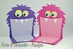 Einladungskarten - Monster - Einladung Set / 2Stk. - ein Designerstück von…