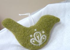 Needle felted olive green bird  easter spring by AgnesFelt on Etsy, $22.00
