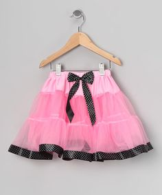 Take a look at this Pink Polka Dot Tulle Skirt - Girls by Princess Expressions on #zulily today!