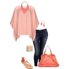 Glowing like a peach- plus size by gchamama on Polyvore featuring polyvore, fashion, style, Old Navy, Chloé, Kate Spade, Accessorize and Dabby Reid