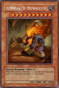 Olympian #8: Hephaestus Yu-Gi-Oh! TCG Divine Warrior