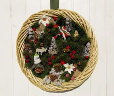 Large Christmas unique wreath, large Christmas decoration, Christmas unique wall decor, Italian xmas wreath, made in Italy Christmas wreath