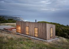 Melbourne-based architects Jackson Clements Burrows designed Moonlight Cabin as a holiday retreat on the far south-west coast of Victoria. It is owned by a family with two children, the father of whom grew up nearby.