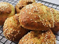 Luftige og glutenfri spinatboller! – Helene Sprogoe Fodmap, Sin Gluten, Gluten Free, Lchf, Keto, Paleo, Happy Foods, Black Beans, Peanut Butter
