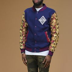 Limited Edition Afrination Ankara Varsity Jacket - Afrination By Kofi Jr. African Dress, African Style, Black Pigment, Kings Man, Africa Fashion, Fashion Prints, Ankara, Fit Women, Cotton Fabric