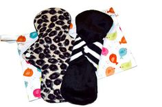 Soft Set of 2 Fleece/Minky Cloth Pads with by JuliansBoutique
