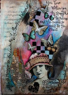 Things showing up out of nowhere and words in random places or as borders. Victoria's Art Visions