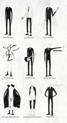 Ever heard of The SlenderMan? Hear are a few of his relatives.