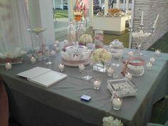 τραπέζι ευχών Athens, Wedding Table, Wedding Decorations, Table Settings, Flowers, Wedding Decor, Place Settings, Royal Icing Flowers, Flower