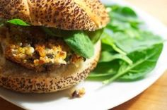 Corn Quinoa Burger w/ Sage