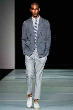 EMPORIO ARMANI SPRING MEN'S COLLECTION 2012 – MILANO FASHION WEEK