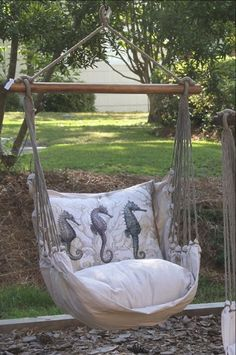 Antique Seahorse Hammock Swing Set