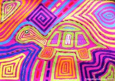 Kan man lave mola mønstre på farvet karton?