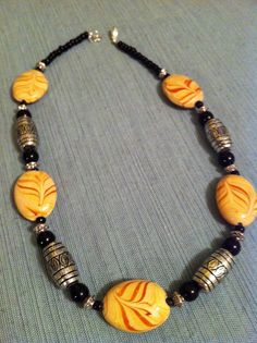 Tribal Beaded Necklace on Etsy, $15.00