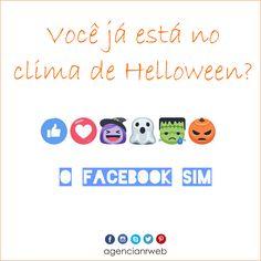 FACEBOOK EM CLIMA DE HELLOWEEN!!!  Você também já está no clima?  #helloween #facebook #marketingdigital #agencianrweb #entrenoclima