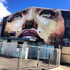 Kamea Hadar and RONE in Honolulu, Hawaii for @powwowhawaii 2013 #streetart #powwowhawaii @kameahadar @r_o_n_e