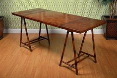 Vince Leather Writing Desk - Mecox Gardens