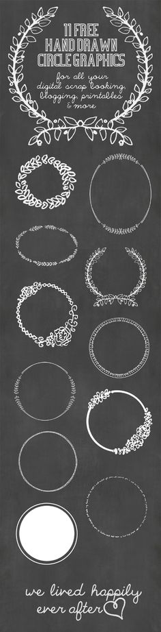 11 Hand Drawn Circle Digital Graphics.