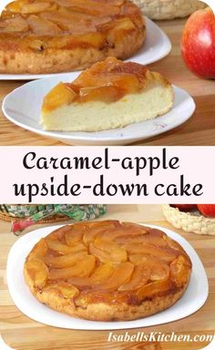Caramel-apple upside-down cake (video recipe) - isabell's kitchen