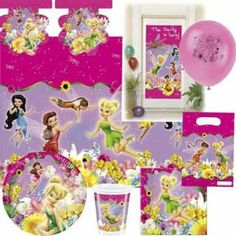 Tinkerbell Fairies Springtime Bumper Party pack for 10: Amazon.co.uk: Toys & Games