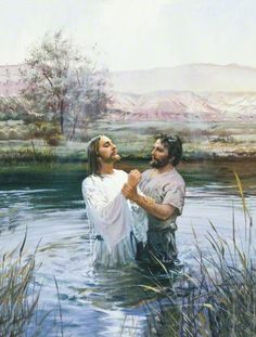 John Baptizing Jesus by Harry Anderson in our His Life & Teachings gallery. images of Jesus Christ with art prints, canvas and framed. Offering both loved classics & new Christian art. Religion, Lds Baptism Program, Baptism Talk, Mormon Baptism, Harry Anderson, Fhe Lessons, Primary Lessons, Lds Art, Jesus Stories