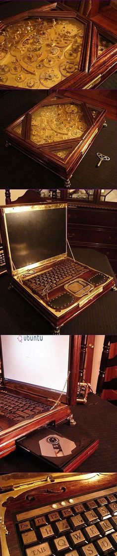 Steampunk Laptop - Hey Deb!  You need one of these