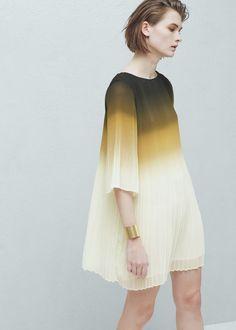Pleated dress - Dresses for Women | MANGO USA