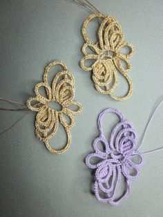 First Needle Tatting Patterns | 2013-02-25 Special ANKARS Classes | Tatting Class Homework