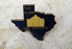 San Antonio Texas Enamel Travel Souvenir Collector Pin Lapel Hat Pin The Alamo