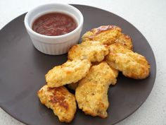 These Cauliflower and Cheese Nuggets were inspired in part by these fritters, but as a healthier alternative to chicken nuggets.