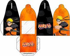 Naruto: Cajas para Imprimir Gratis.