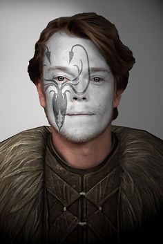 Game of Thrones. Theon Greyjoy Kraken House War Paint  by HilaryHeffron