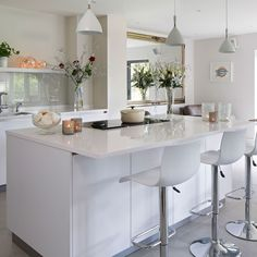 Kitchen : Modern White Kitchen Pictures Microwave Stand With Storage Modern Islands For Kitchens White Kitchen With White Island Modern Kitchen Island Table Kitchens
