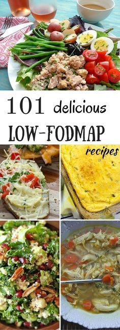 A list of 101 delicious low FODMAP recipes with photos and instructions. All the recipes are easy, and are made with healthy ingredients. | https://dietingwell.com/low-fodmap-recipes/