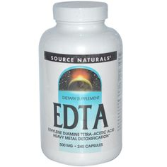 Dietary Supplement | EDTA | 240 Capsules / $25.19 | iHerb.com | Used for heavy metal removal and Pineal Gland detoxification. EDTA is a chemical that binds and holds on to (chelates) minerals and metals such as chromium, iron, lead, mercury, copper, aluminum, nickel, zinc, calcium, cobalt, manganese, and magnesium. When they are bound, they can't have any effect on the body and can be removed from the body.