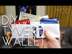 DIY Mighty Wallet Want a unique, lightweight, durable, and recyclable wallet? You can get your hands on a premade Mighty Wallet from Dynomighty for $15 or so...