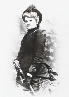 """Kate Chopin in riding habit. (1876) Kate Chopin (nee Katherine O'Flaherty) was born in St. Louis Feb. 8, 1850. Educated at Sacred Heart Academy, she married and moved to Louisiana. After her husband's death she returned to St. Louis with her 6 children and began writing short stories. Her last novel """"The Awakening"""" was shocking in its time, but is now praised as an important early feminist work. Missouri History Museum"""