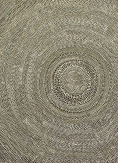 Beautiful aboriginal-patterned rug -> no, it's an aboriginal painting!  Thanks to Margaret for the correction below :))