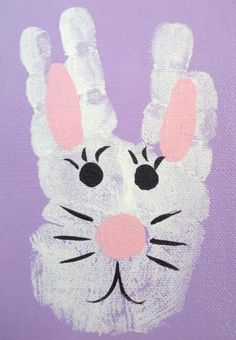OMG ! These little bunnies are so cute ! They are incredibly simple but turn out neat and adorable . All you need are just cotton balls, footprints…