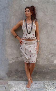 Roman Originals Donna Sole Sfumati con texture abito con tasca laterale