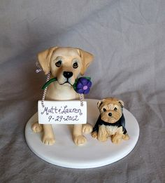 Labrador and Yorkie cake topper | Flickr - Photo Sharing!