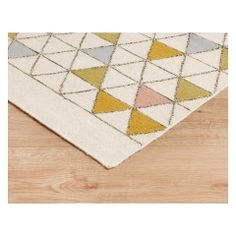 SCALES Large cream and multi-coloured flat weave rug 170 x 240cm