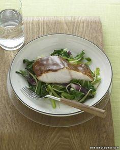 Hoisin- Glazed Black Cod with Bok Choy