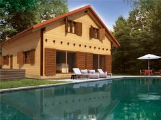 La mejor elección para construir tu casa en madera Mansions, House Styles, Outdoor Decor, Home Decor, Log Homes, Decoration Home, Room Decor, Fancy Houses, Mansion