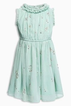 For a little superstar! This aqua dress will be a great option for a party or even a summer family BBQ!