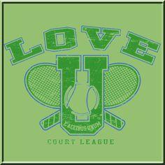 Cool Tennis T-Shirt Designs | Love U Court League Tennis T Shirt